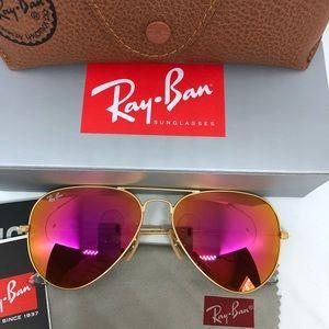 Rayban Avaitor Sunglasses pink 58mm